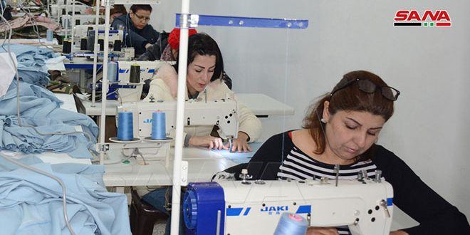 Inauguran nueva unidad de producción textil en el poblado de Bahluliya/Latakia