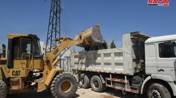 Comienzan obras de rehabilitación de la infraestructura del barrio Al-Assad en Alepo (fotos)