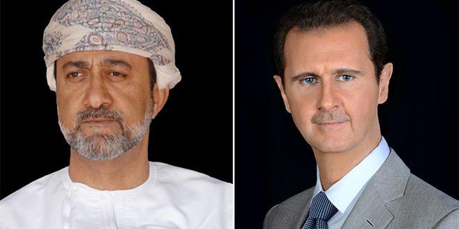 Presidente Al-Assad recibe mensaje de felicitación del Sultán de Omán con motivo del Día de la Independencia