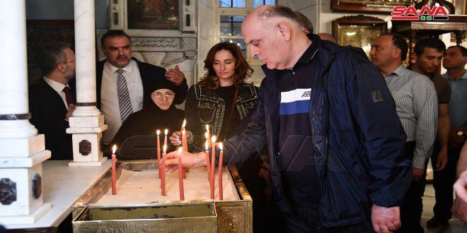 Presidente de Abjasia visita las ciudades de Maloula y Sednaya al noroeste de Damasco