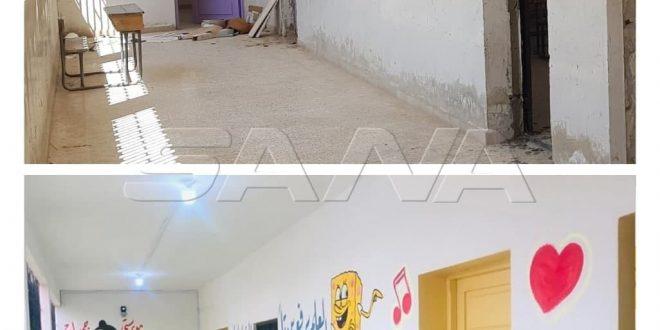 Siria reconstruye y rehabilita más escuelas dañadas por actos terroristas (+ fotos)