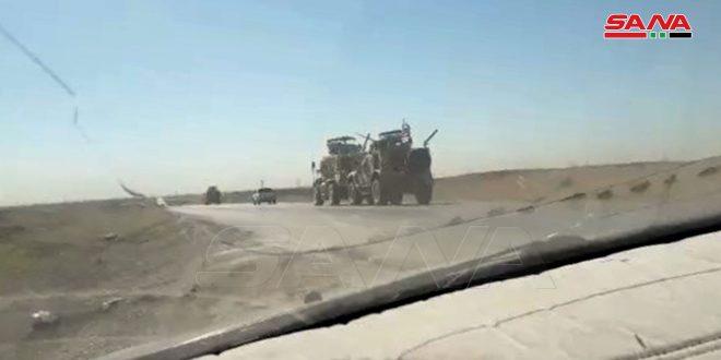 Ocupación estadounidense introduce en Hasakeh diez rastras cargadas con vehículos militares
