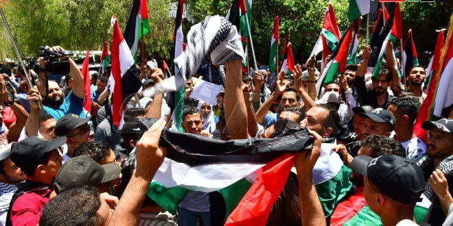 Concentración contra el agresor israelí frente a la Oficina de la ONU en Damasco (+ fotos)