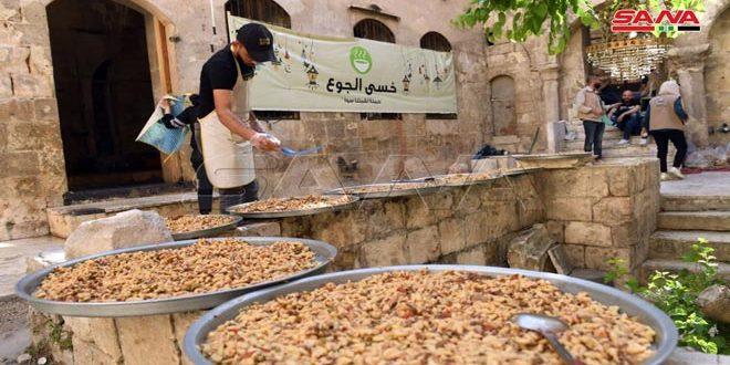 Distribuir 4 mil raciones diarias de Iftar en Alepo