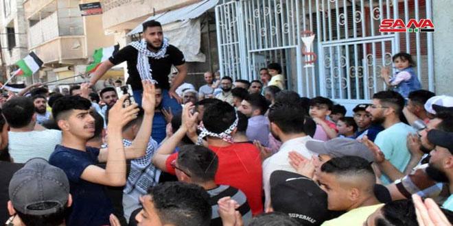 Hama/Siria protesta contra el genocidio israelí ejercido contra el pueblo palestino