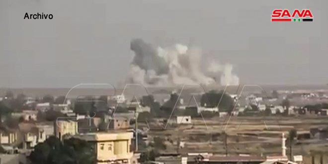 El ocupante turco y sus mercenarios bombardean localidades de Tal Rifaat y Ain Daqneh/ Alepo
