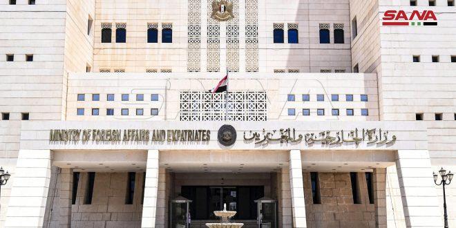 Siria expresa enérgica condena a la flagrante injerencia turca en los asuntos del país hermano de Túnez