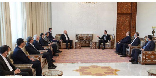 Presidente al-Assad recibe a Qalibaf y asegura que Irán es socio importante para Siria