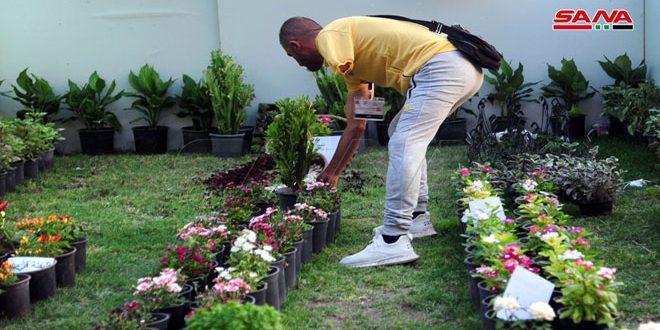 Herido exhibe sus productos en Feria de Flores