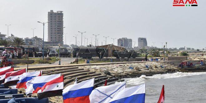Desfile naval frente a la costa siria por el Día de la Armada de Rusia (+ fotos)
