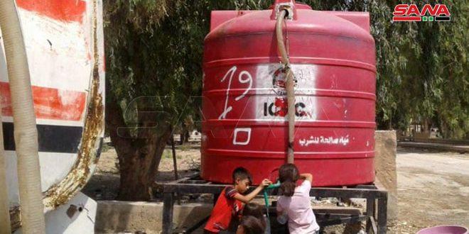 Ocupante turco continúa privando del agua a un millón de residentes de Hasakeh