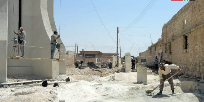 Ejecutan importantes proyectos de agua potable en zonas liberadas del terrorismo en Alepo