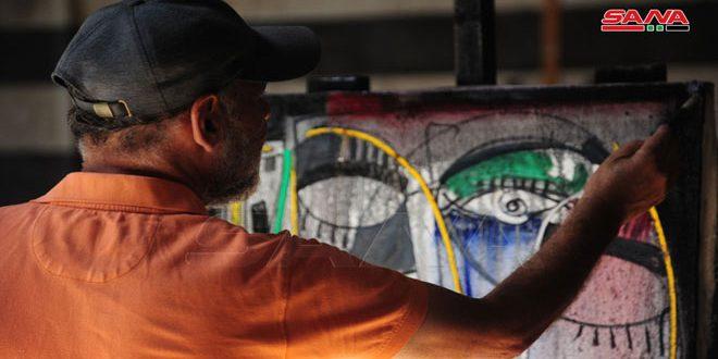 Encuentro de pintura en Khan Assad Basha en Damasco