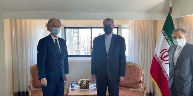 Irán reitera su apoyo a la soberanía y unidad de Siria