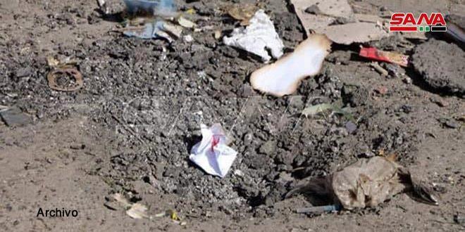Un civil resulta herido por explosión de una mina remanente de terroristas en Hama