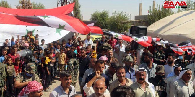 Masiva celebración por cuarto aniversario de la liberación de las localidades norteñas de Deir Ezzor