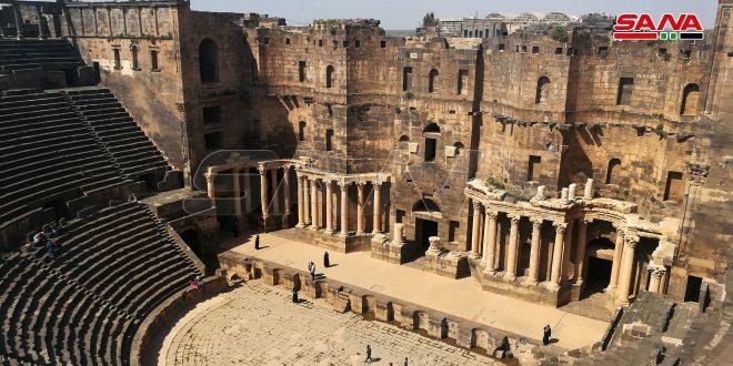 Anfiteatro de Bosra, uno de mejores monumentos históricos de Oriente Medio
