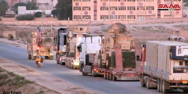 EEUU continúa reforzando sus bases ilegales en Siria