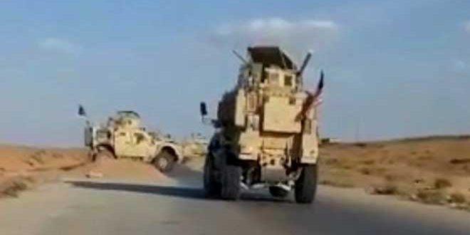 Residentes de Hamo en el este de Qamishli obligan a un convoy estadounidense a retroceder