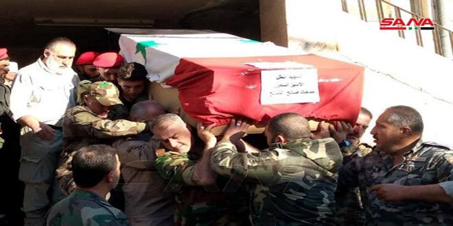 Celebran funeral del mártir Medhat al-Saleh, asesinado por el enemigo israelí