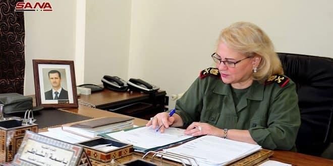 Bassima al-Shater, primera mujer siria promovida al rango de mayor general