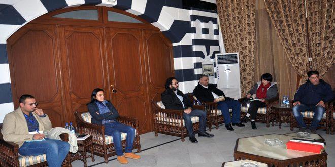 بررسی حمایت از پروژه های کشاورزی و کوچک در دیدار استاندار حمص با مدیر برنامه عمران ملل متحد در سوریه