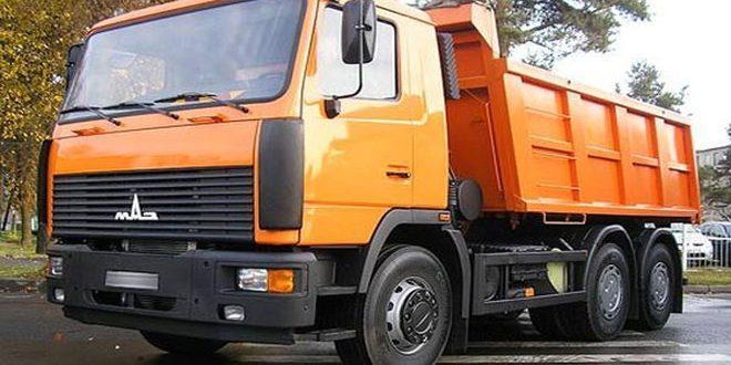 بررسی وارد کردن 157 دستگاه کامیون کمپرسی از بلاروس به سوریه