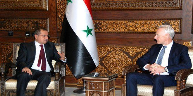 تاکید شعار ومقداد بر حرص سوریه بر امنیت وایمنی سازمان ها و کارکنان سازمان ملل متحد