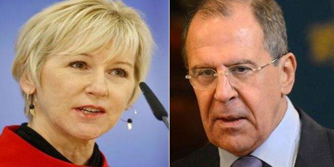 وزيران امور خارجه روسيه و سوئد حل وفصل بحران در سوريه را بررسی کردند