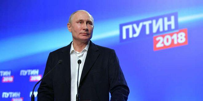 پوتین با کسب 76.67 درصد آراء پیروز انتخابات است