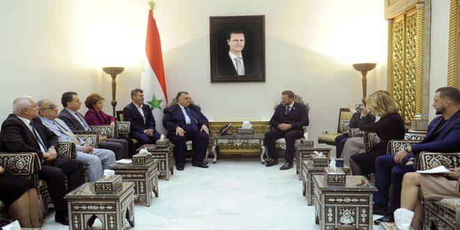 رئیس پارلمان سوریه در دیدار با یک هیات پارلمانی روسیه بر عمق روابط بین دو کشور تاکید کرد