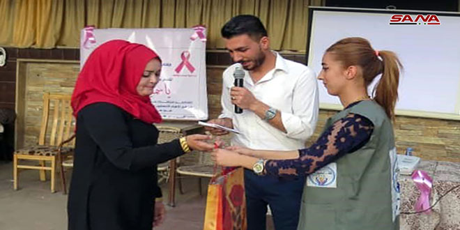 فعالیت های کمپین آگاهی از تشخیص زودهنگام سرطان پستان در شهر القامشلی