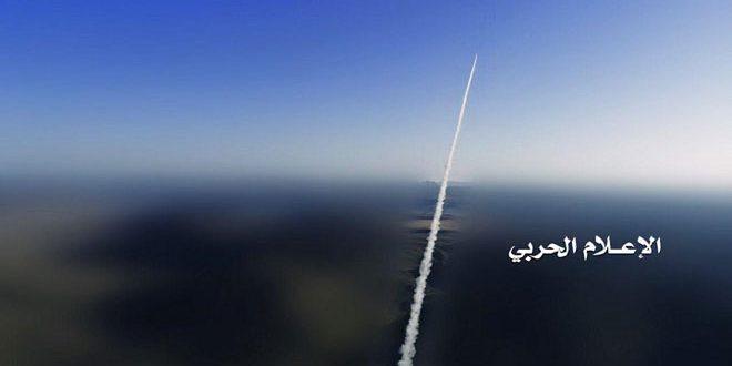 شلیک یک موشک بالستیک توسط یمنیها بهسوی مواضع مزدوران عربستان سعودی