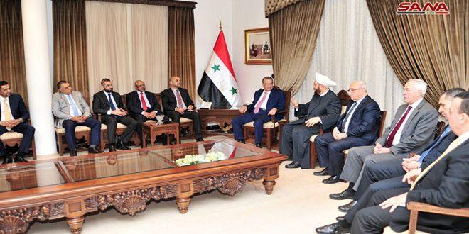 دمشق: دیدار مفتی اعظم حسون با یک هیات پارلمانیاردنی