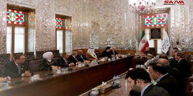 تاکید لاریجانی بر ادامه حمایت ایران از سوریه در زمینه های مختلف