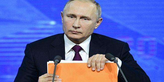تاکید پوتین بر حمایت کشورش از ایجاد راه حل برای بحران در سوریه