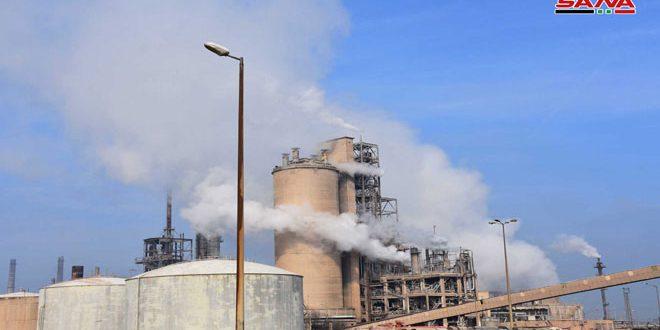 به ظرفیت 900 تن روزانه.. کارخانه آمونیاک اوره در حمص آغاز به کار کرد