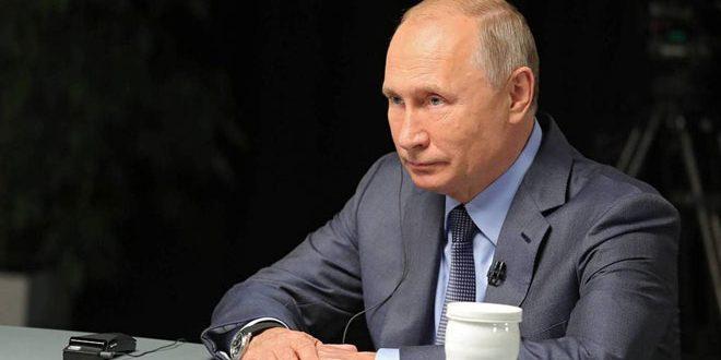تاکید پوتین بر ضرورت از بین بردن تروریسم و خروج تمام نیروهای خارجی غیرقانونی از سوریه