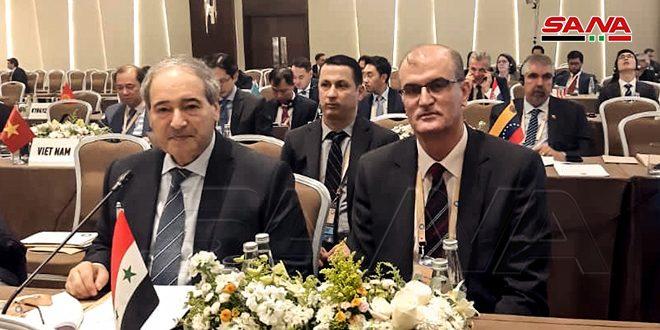 حضور سوریه در نشست مقدماتی اجلاس وزیران جنبش عدم تعهد در باكو