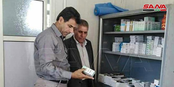 استقرار سه درمانگاه پیش ساخته در حومه قنیطره