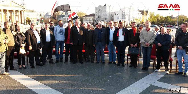 سوری های مقیم مجارستان جنایات اشغالگران آمریکایی و ترکی را محکوم کردند