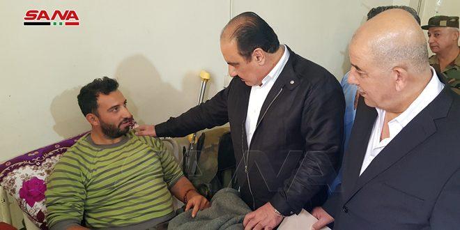 عیادت معاون دبیر کل حزب بعث از مجروحان ارتش عربی سوریه به دستور رئیس جمهور دکتر بشار اسد