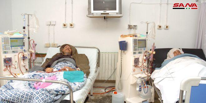 11 هزار دیالیز سالانه در بیمارستان ملی سویداء انجام می شود