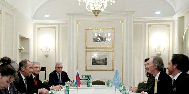 لاوروف و پدرسون : گفتگوهای سوری-سوری باید بدون دخالت خارجی ادامه یابد