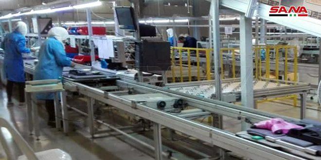 137 واحد صنعتی در درعا وارد مدارد تولید شدند