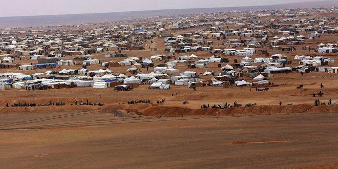 سوریه و روسیه : ارسال محمولههای آمریکا برای تروریستها در آردوگاه رکبان تحت پوشش کمکهای بشردوستانه