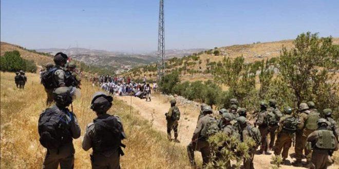 جراحت ده ها فسطینی در سرکوب تظاهرات در کرانه باختری توسط اشغالگر صهیونیست