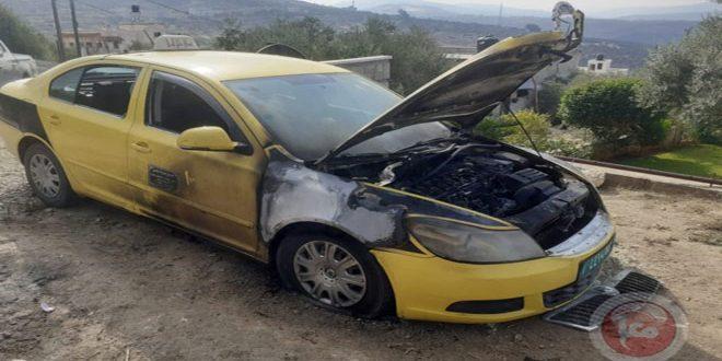 کرانه باختری: به آتش کشیدن دو خودروی فلسطینی از سوی شهرک نشینان صهیونیست