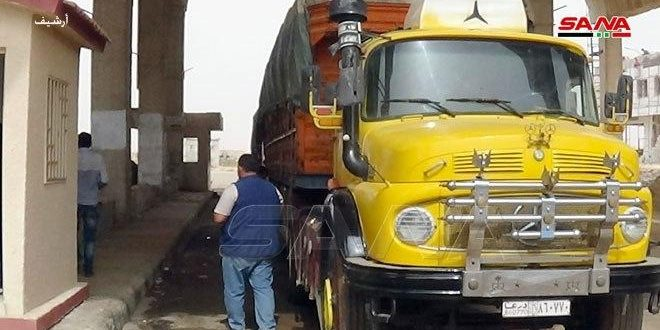 ورود 65 کامیون به اردن از طریق گذرگاه مرزی نصیب – جابر