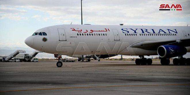 وزارت حمل و نقل: انجام سه پرواز از شارجه به دمشق در ماه جاری